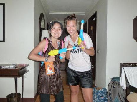 Songkran Bangkok Water fight