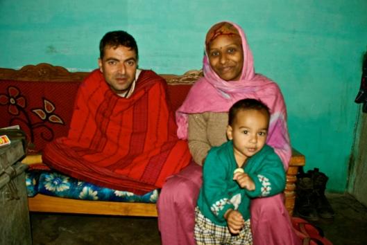My first Couchsurf family - Nittin, Savita and little Kit Kat.