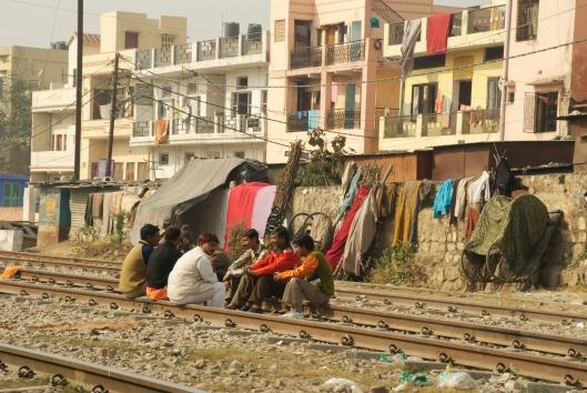 Slum life India