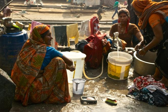 Haridwar India laundry ladies