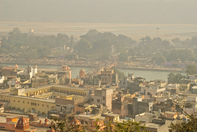 Haridwar view from the temple.