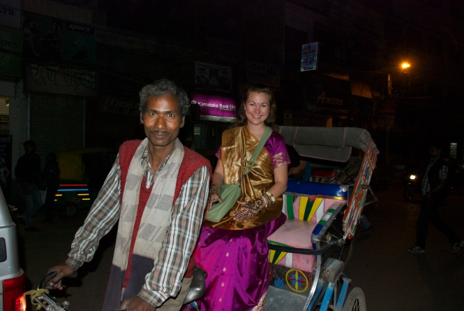 Me in Rickshaw and Sari