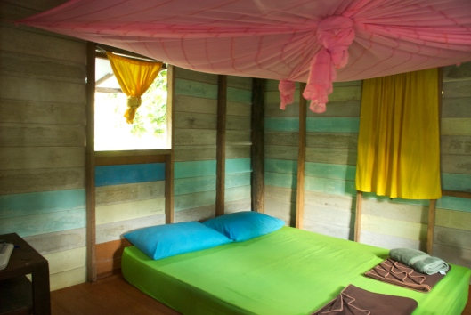 Inside beach bungalow, Thailand
