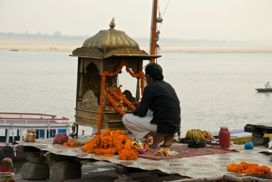 Varanassi, India Ghats Puja