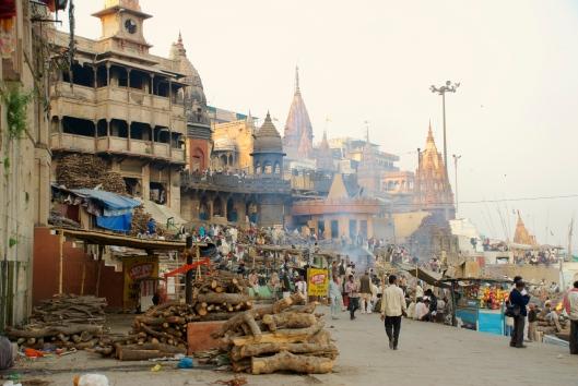 Manikarnika Ghat in Varanasi Public cremations